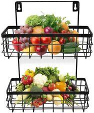 New listing Wire Baskets for Storage, Fruit Basket for Kitchen, Black, 2-Tier
