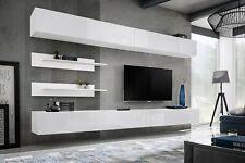 Anbauwand Wohnwand Wohnzimmer Schrankwand FLY I1 WW PVC Hochglanz Push - Click