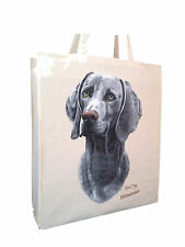 More details for weimaraner cotton shopping bag tote with gusset xtra space perfect gift