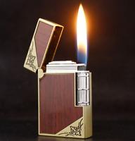 Retro Style Side Ignition Stylish Lighter Wood Design Smoking