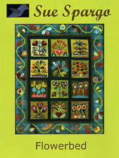 FLOWERBED QUILTING PATTERN, Softcover Book From Sue Spargo Folk-Art Quilts NEW