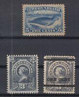 I3601/ CANADA – NEWFOUNDLAND – SG # 55 – 59a - 80 MINT MH – CV 270 $