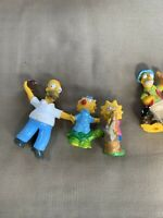 Vtg Simpsons Bart Simpson   PVC Dolls Family Lot Of 5 1990 Toy T30