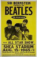 Music Poster Reprint The Beatles at Shea Stadium 1965