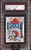 1992 O-Pee-Chee Hockey Wax Pack w/ Steve Yzerman Rookie Insert on Top PSA 9 Mint