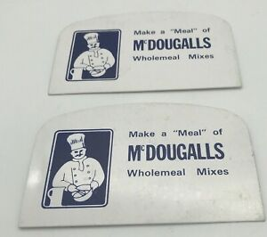 2 Vintage McDougalls Catering Wholemeal Mixes Scrapers