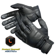 Genuine Leather L Police Tactical Weighted Steel Shot Sap Gloves Lifetime Warr
