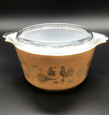 PYREX 1 QUART AMERICAN HERITAGE BOWL # 473 EAR TO EAR 7 1/2""