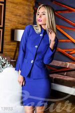 Zweiteilige Damen-Anzüge & -Kombinationen aus Polyester mit Rock für Business