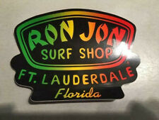 "Ron Jons Surf Shop ""Ft Lauderdale Fl."" Sticker Never Used Store Now Closed"