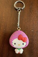 Vintage 2007 Sanrio Japan Hello Kitty Strawberry Costume Mascot Mirror Keychain