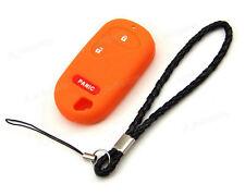 Orange Silicone Case Cover For Honda Accord Civic CRV Jazz Remote Key 2 3 Button