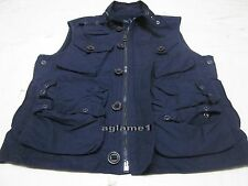 NWT Polo Ralph Lauren Hunting Fishing Outdoor Photographer Vest Jacket L Navy