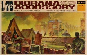 Fujimi 1:76 Jerry Can Brick Tent Oil Dram Sandbag Dridge Diorama Accessory #D4