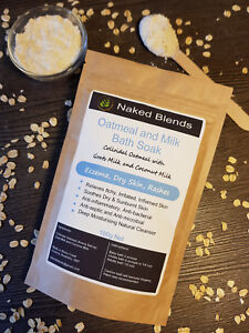 Oatmeal, Goat and Coconut Milk Bath Soak - Eczema, Rashes, Dry skin, Softer Skin