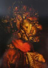 Earth Giuseppe Arcimboldo 1570 Grotesque Head Elephant Ram Deer Stag Animals