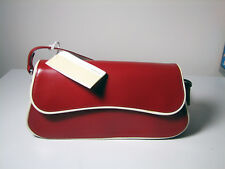 8cafbee1e9 new FRANCESCO BIASIA Italy Handbag Red Leather White Piping | Designer | w.  Tag