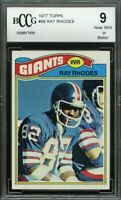 1977 topps #98 RAY RHODES new york giants rookie card BGS BCCG 9