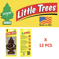 Leather Freshener 10290 Little Trees MADE IN USA Pack of 12