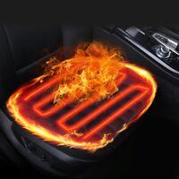 Black Car Heated Seat Cushion Cover Auto 12V Heating Heater Warmer Pad Winter