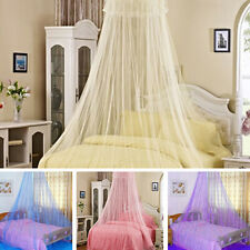 Elegant Round Lace Curtain Solid Dome Bed Canopy Netting Princess Mosquito Net