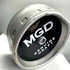 Miller MGD Beer Barrel Sign Plastic Quarter Half Metal Look Round Mancave Bar