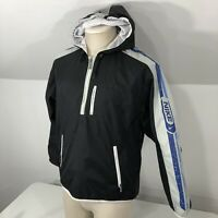 Vintage NIKE 1/2 Zip Windbreaker Pullover Jacket Women's Small 4-6 Black Hooded