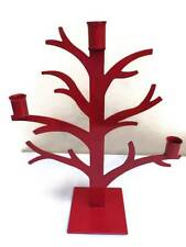 Winter Holiday Christmas Xmas Tree Candelabra Red Metal Branches 15.5 Inches New