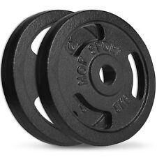 10 kg Hantelscheiben 2x5 kg Guss Gewichte 30/31mm Hanteln Scheiben Set Guseisen