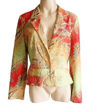 Vintage long sleeved jackets  NEON COLOURS UK size 12/14 EU 42 Polka dot lining