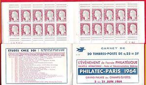 CARNET MARIANNE DECARIS  PUBLICITE PHILATEC PARIS 1964.  S.1-64