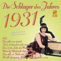 DIE SCHLAGER DES JAHRES 1931 2 CD NEU