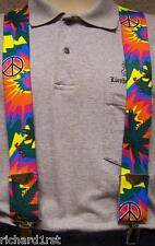 """Suspenders 2""""x48"""" FULLY Elastic 60's Retro Peace & Love"""