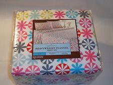 Home Classics Queen Flannel Sheet Set - Dot
