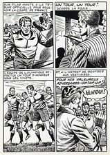 FINALE DE COUPE FOOTBALL (ROBERT HUGUES) PLANCHE ORIGINALE PILAR SANTOS PAGE 44