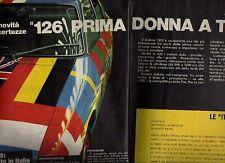 Z88 Ritaglio Clipping 1972 Fiat 126