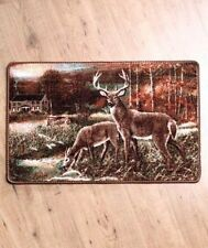 Tranquil Deer rug Northwoods Woodland Home Decore
