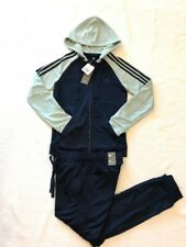 Adidas Women Track Suit Re-Focus TS Training 3-Stripes Navy/Tacktile Green Sz SM