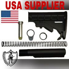 Tactical Mil Spec Extension Tube And 6 Position Buttstock 6 Piece Kit