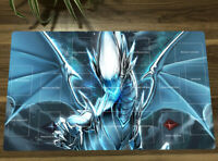 NEW Yugioh Playmat Blue-eyes White Dragon OCG TCG Mat Game Play Mat With Zones