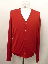John Smedley Red Cardigan Sweater Made in England NWT (large)