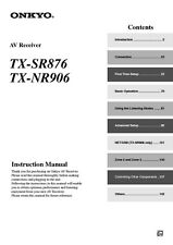 Onkyo Integra TX-NR906 Receiver Owners Instruction Manual