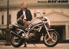Suzuki GSF400 400 Bandit 1990 World English language sales brochure