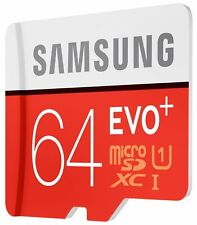 SAMSUNG EVO Plus 64GB MicroSD Micro SDXC C10 Flash Memory Card w/ SD Adapter USA
