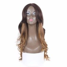 """Synthetic no Lace Wig X-Tress  Ombre 26"""" Heat Resistant Invisible Parting Wavy"""