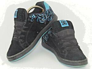 DC Pixie 3 Women's Skate Shoes Trainers Black & Blue Size UK7 US9w EU40.5w