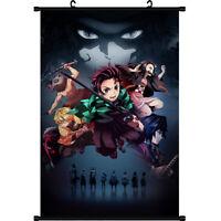 Anime Demon Slayer: Kimetsu no Yaiba Birthday Wall Home Decor Scroll Poster Hot