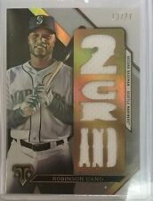 ROBINSON CANO 2016 TOPPS TRIPLE THREADS SILVER GAME USED JERSEY RELIC /27