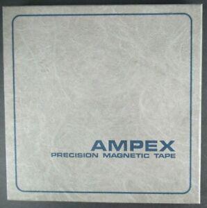 """AMPEX GRAND MASTER 456 MAGNETIC TAPE 10.5"""" METAL REEL TO REEL 1/2"""" UNUSED IN BOX"""