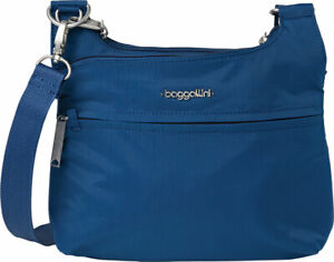 Baggallini Anti-Theft Charter Crossbody Bag One Size Blue